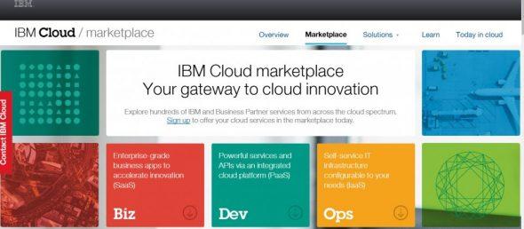 IBM 剛推出自家的雲端市集 IBM Cloud marketplace。