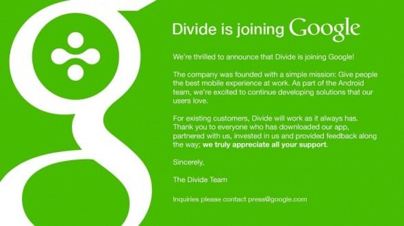 Google 近日收購了本港的新創公司:Divide