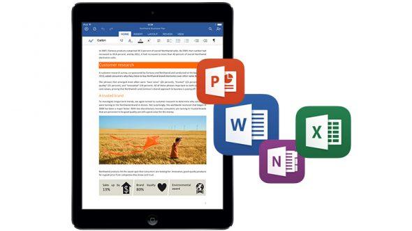 Office for iPad 的每日平均下載量為 587,000