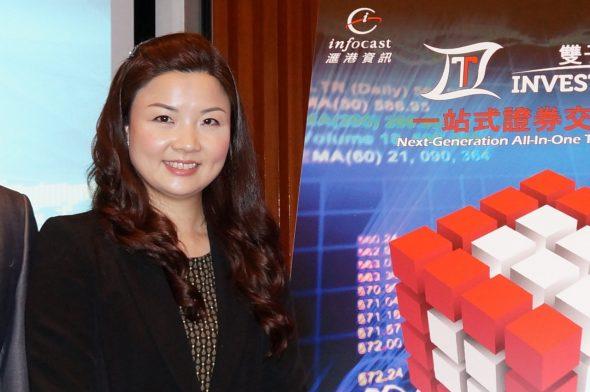 滙港資訊總裁何詠思表示,低延時的平台可令客戶具有時間優勢,搶先以更好價位完成交易。