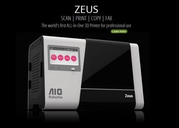 Zeus 為全球首部集掃描、複製、列印、傳真合一的多功能 3D 列印機