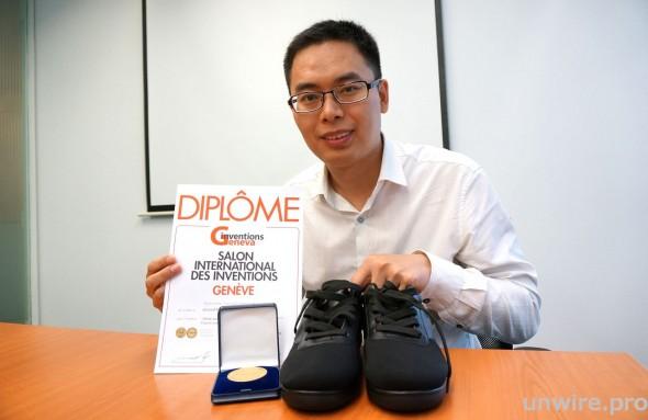 奪得今年日內瓦國際發明展衣着類金獎的安潤普推出的 i-Shoe,是其中一款針對醫療市場的穿戴裝置。
