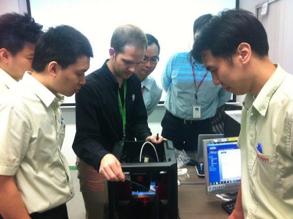 剛取得 MaketBot 代理權的 Ricoh,早前接受了美國 MaketBot 專員培訓。