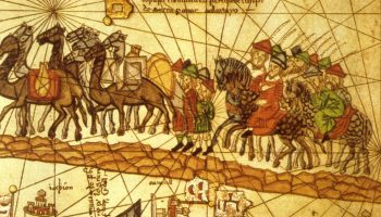 Marco Polo's Route On Silk Road To China