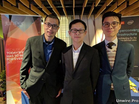 Juniper Networks 系統工程經理陳秉明(左)