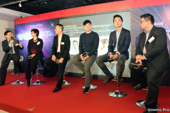 左至右,Andy Yip Senior Marketing Manager, HKT; Ryanne Lai Co-founder, Dragon Law; Matthew Leung Marketing Director, addERP; Timothy Yu Founder, Snapask; Kevon Cheung Co-Founder & COO, First Code Academy; Albert Au Founder, AcesoBee