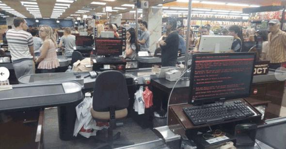 烏克蘭一間超市大量電腦遭受 Petya 攻擊