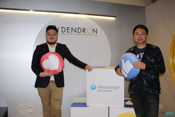 IWC 區域互動媒體及客戶關係經理莊震(Matthew Chong)(左)及 Facebook 亞太區產品合作經理濮冠楠(Guannan Pu)
