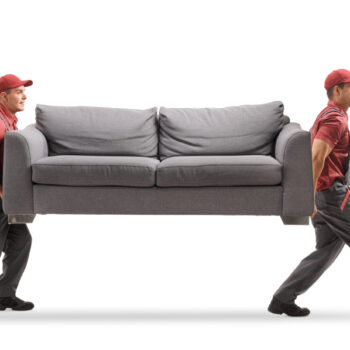 Movers carrying a couch